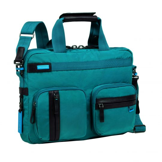 Бизнес чанта с две къси дръжки; допълнителна дълга дръжка за рамо- Piquadro