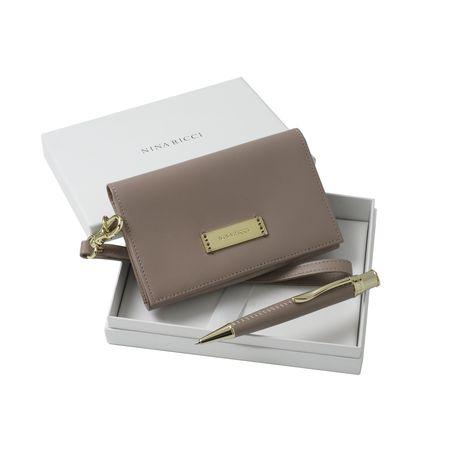 Комплект чанта за телефон + химикалка Nina Ricci в кутия