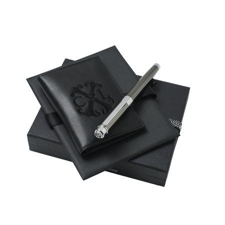 Christian Lacroix Комплект кожен портфейл за карти + химикалка