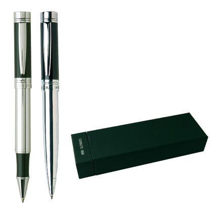 Cerruti Комплект Химикалка и Ролер Zoom black