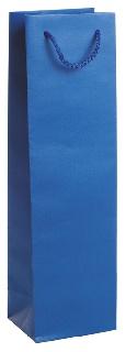 Подаръчен плик син (висок - подходящ за бутилка)