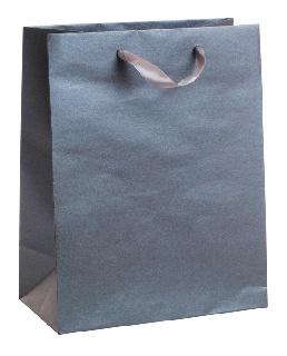 Подаръчен плик тъмно сребрист