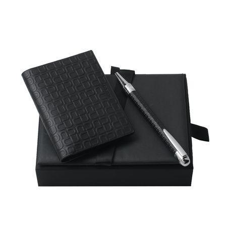 Ungaro Кожен портфейл за карти и химикалка