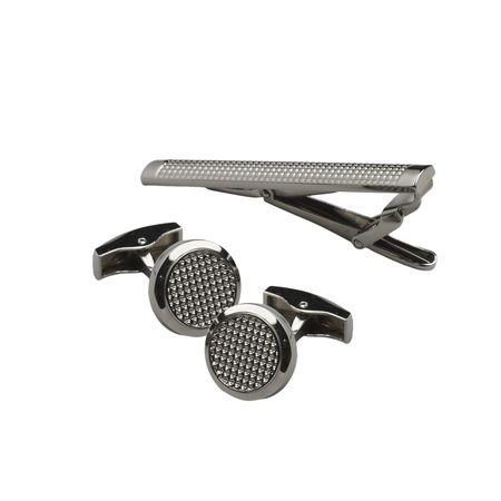 Jean Louis Scherrer Комплект ръкавели и щипка за вратовръзка Black Diamond