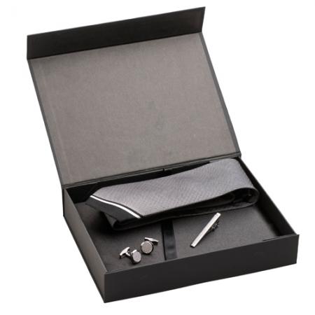 Jean Louis Scherrer Комплект игла, ръкавели и вратовръзка Black Diamond