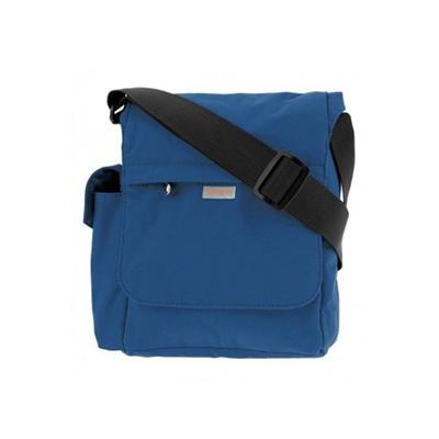 Олекотена удобна чантичка за рамо в синьо