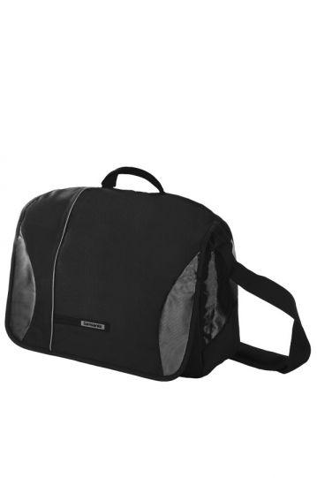 Черна чанта за рамо с отделение за 15.6 инча лаптоп Wander- Full