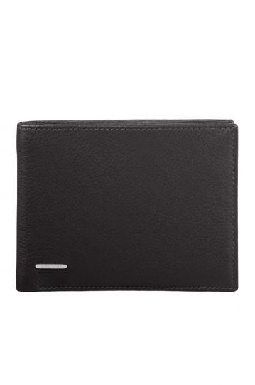 Mъжки черен портфейл от естествена кожа модел F15.09.001