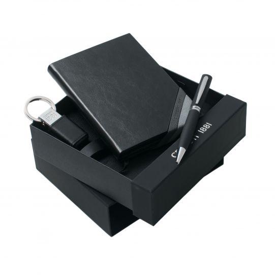 Cerruti Комплект Бележник, USB- ключодържател и химикал Corner