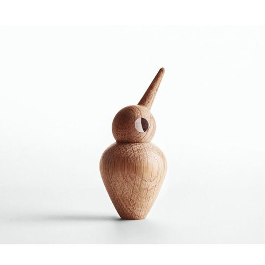 Дизайнерска фигурка - пиленце, дървено, голямо