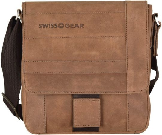 Кожена чанта за през рамо Wenger SWISSGEAR DOWN UNDER, кафява SG28-02BR