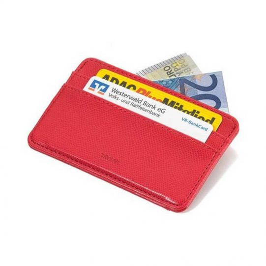 Калъф за кредитни карти и документи TROIKA - COLORI RED STEP