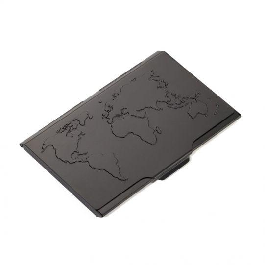 Визитник TROIKA - GLOBAL CONTACTS, черен