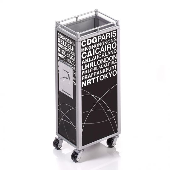 Моливник TROIKA - MINI TROLLEY BLACK