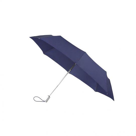 Тройно сгъваем тъмно син автоматичен чадър Samsonite