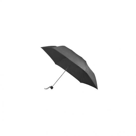 Тройно сгъваем ръчен чадър в металик черено