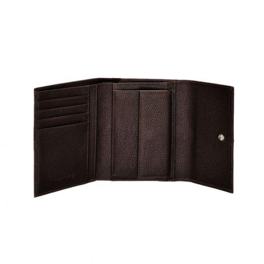 Стилен черен дамски портфейл от естествена кожа, модел F66.09.301