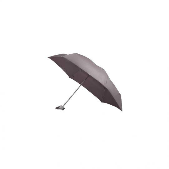 Тройно сгъваем ръчен чадър в металик лилаво