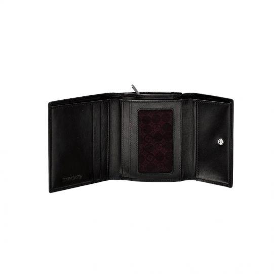 Дамски черен портфейл от естествена кожа, модел F68.09.302