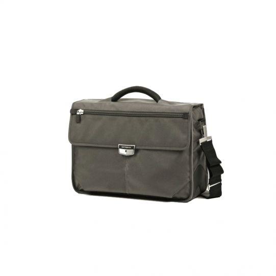 Бизнес компютърна чанта с две прегради Avior за 16 инча лаптоп сив цвят