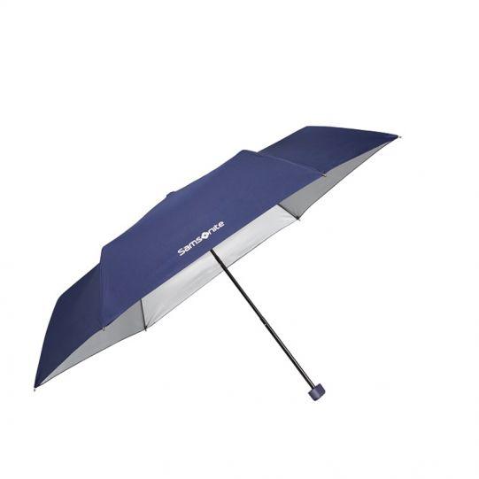 Ръчен чадър с три степени на сгъване Samsonite, тъмносин цвят