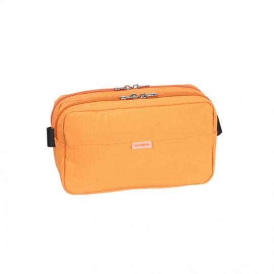 Олекотена удобна чантичка за през кръст в оранжево