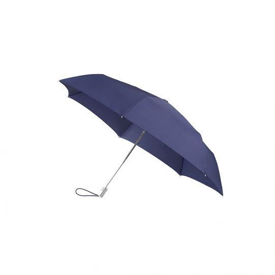 Тройно сгъваем тъмносин автоматичен чадър диаметър, 91 см, Samsonite