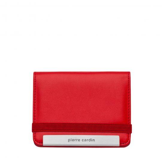 Калъф за документи Pierre Cardin, отваряем, червен
