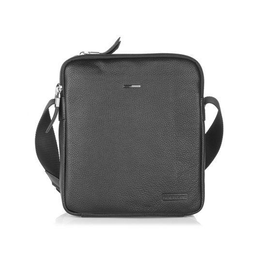 Голяма мъжка чанта SILVER FLAM, черна