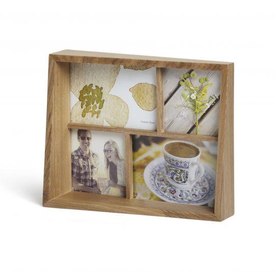 """UMBRA Рамка за снимки """"EDGE MULTI DESK"""" - цвят натурално дърво - за 4 снимки"""