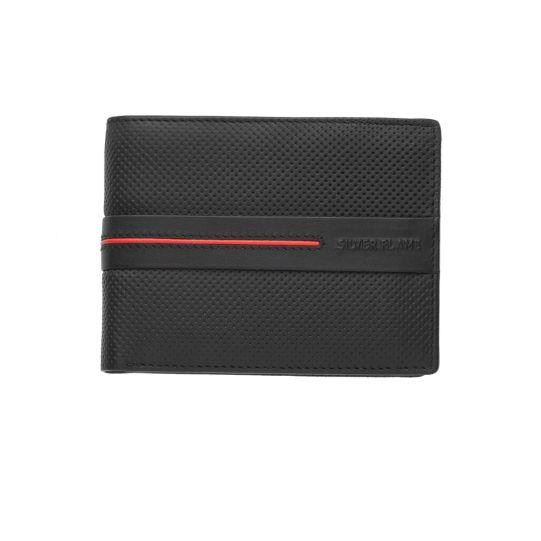 Мъжки портфейл SILVER FLAME, Червена линия