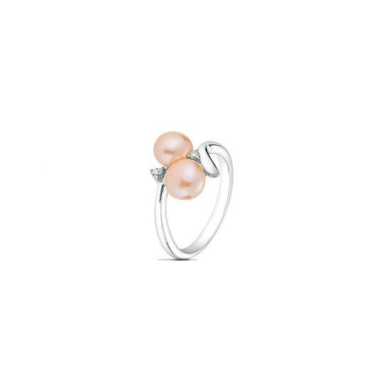 Пръстен розова перла