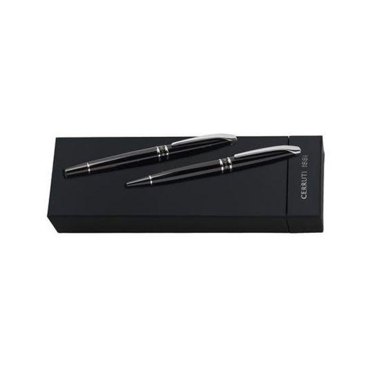 Комплект химикалка и писалка CERRUTI 1881 Silver Clip