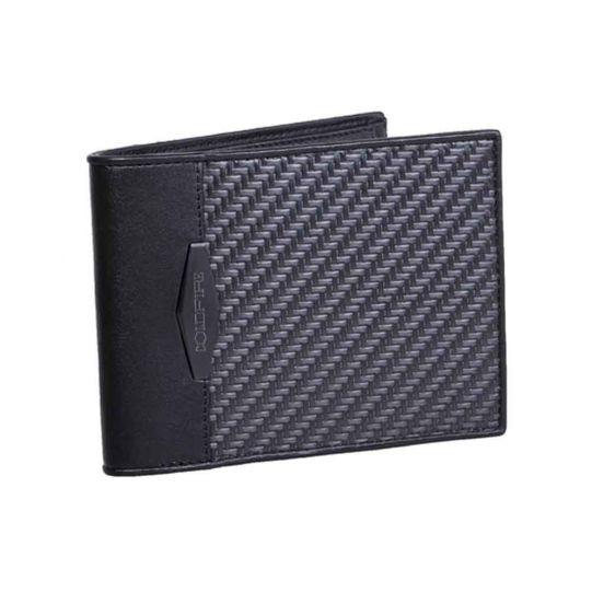 Мъжки портфейл с Монетник и Отделение за документи от Карбон Coldfire, GT-Rebel Carbon Fiber Wallet with coin pocket and ID, RFID защита