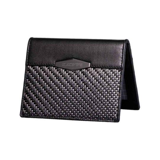 Мъжки калъф за кредитни карти с отделение за документи от Карбон Coldfire, GT-Rebel Carbon Fiber Slim Cardholder, RFID защита