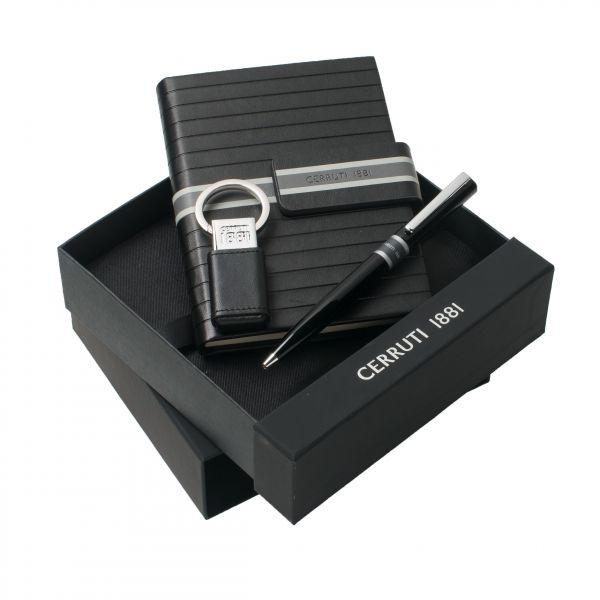 Cerruti Комплект Бележник А6, ключодържател-USB и химикалка