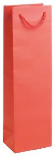 Подаръчен плик червен (висок - подходящ за бутилка)