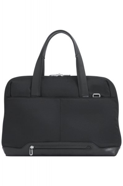 """Дамска бизнес чанта 14.1"""" S-OULITE с капак и елементи от кожа"""