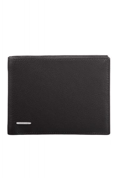 Mъжки черен портфейл от естествена кожа, модел F15.09.008