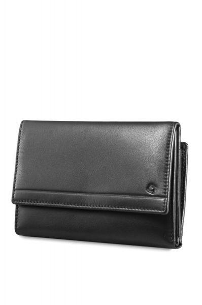 Черен мъжки портфейл от естествена кожа модел F35.09.306