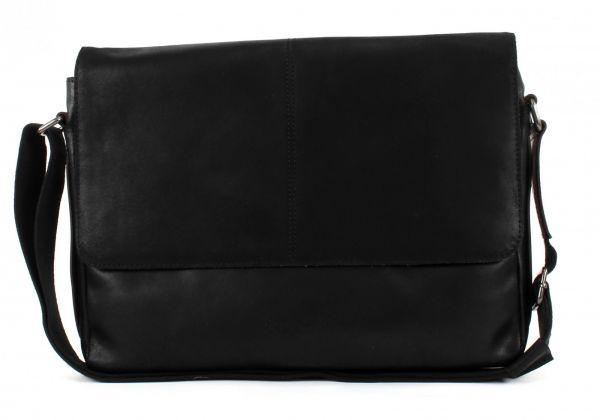 "Кожена чанта Bugatti GRINTA, за лаптоп 13"", черна"