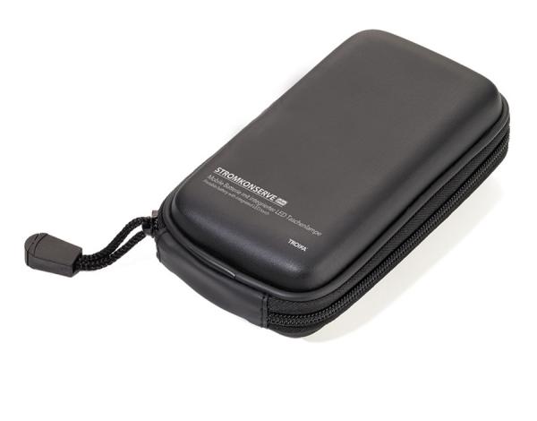 Комбинирано зарядно+фенер TROIKA - STROMKONSERVE BK - черен