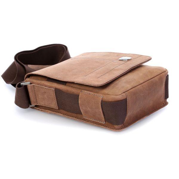 Кожена чанта Wenger SIERRA NEVADA, малка, кафява