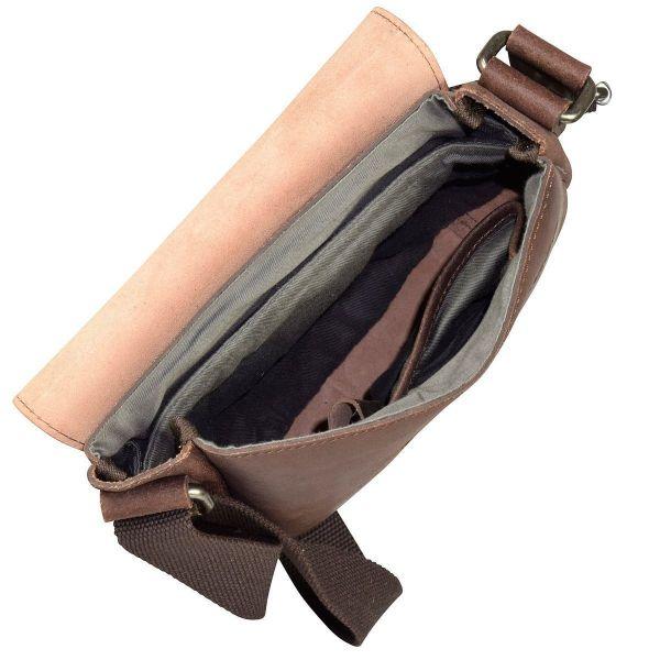 Кожена чанта WENGER Street Hunter, малка, кафява