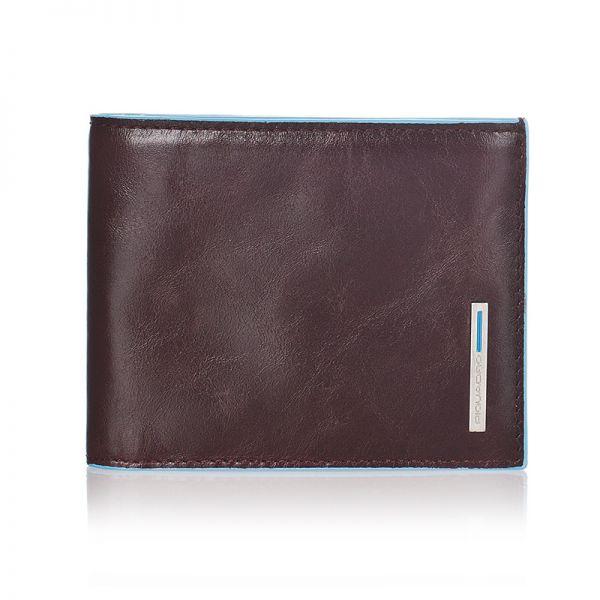 Хоризонтален мъжки портфейл Piquadro от естествена кожа