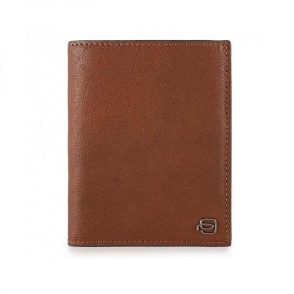 Вертикален мъжки портфейл Piquardo с отделение за карти и документи