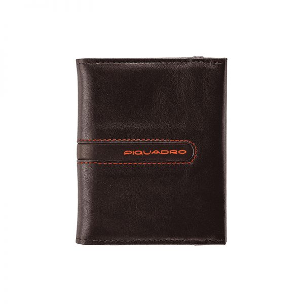 Луксозен кожен портфейл Piquadro за карти и документи