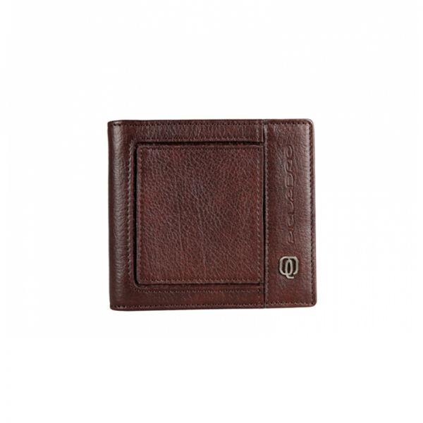 Луксозен мъжки портфейл Piquadro с щипка за банкноти