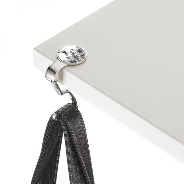 Закачалка за чанта TROIKA - Black Flowers