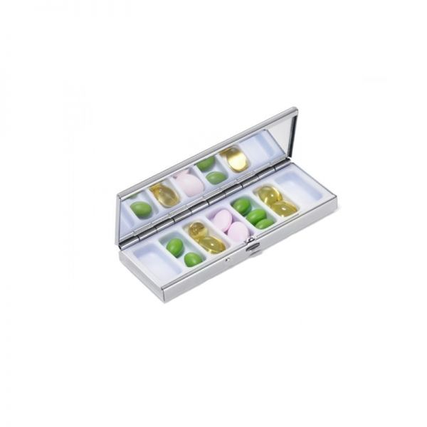 Метална кутия за витамини, лекарства TROIKA - COLOUR BUBBLES
